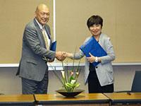 池坊短期大学と高大連携事業協定を結びました